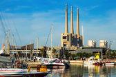 Dockade yachts i Port de Badalona — Stockfoto
