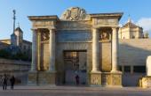 Puerta del Puente is  Renaissance gate — Stock Photo