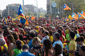 Rally to 300th anniversary of  loss of independence of Catalonia — Stock Photo