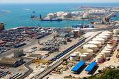 バルセロナの港 - 物流港エリア — ストック写真