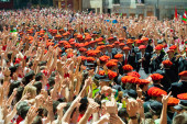 Starting of San Fermin festival — Stock Photo