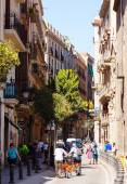 Street in Gothic Quarter — Stock Photo