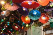 Festes de Gracia in night — Stock Photo