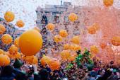 Carnival - The battles of Taronjada — Stock Photo