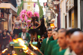 Procession of burial Carnestoltes  in Sitges — Stock Photo