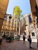 Santa Maria del Pi at Barrio Gotico — Stock Photo