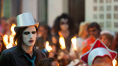 Burial Carnestoltes  at Sitges — Stock Photo