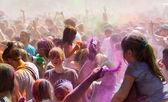Festival of colours Holi Barcelona — Stock Photo