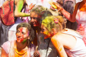 Women  at Festival Holi in Barcelona — Stock Photo