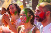 Girls at IV Festival de los colores Holi — Stock Photo