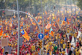 Rally demanding independence for Catalonia — Stock Photo