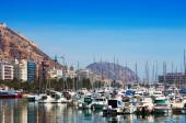 Hamn med båtar. Alicante — Stockfoto