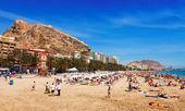 Mediterranean  beach in Alicante — Stock Photo