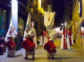 Evening procession during  Holy Week — Stock Photo
