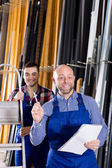 Manager at PVC windows factory — Stockfoto