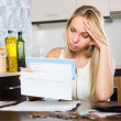 Woman thinking about  financial problems — Stock Photo #72171837