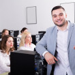 Successful call center team Working — Stock Photo #72175187