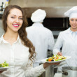 Team of positive chefs — Stock Photo #72179751