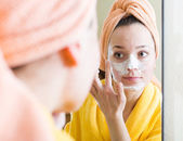 Woman taking care of face  — Stock Photo