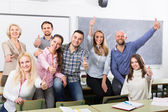 Portrait of adult students at class — Stock Photo