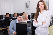 Unhappy employees of sales department — Stock Photo