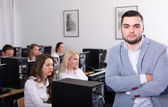 Angry sales department manager — Stock Photo