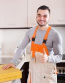 Handsome skilled workman — Stockfoto