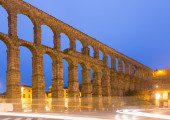 Old Roman Aqueduct in morning time — Stock Photo