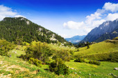 Mountains landscape in Pyrenees — Stock Photo