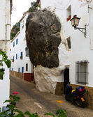 Dwelling  house built with rock — Stock Photo