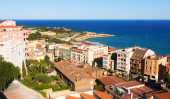 General view of  Catalan city. — Stock Photo