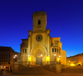 Evening view of  Albacete Cathedral  — Stockfoto