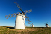 Group of windmills in sunny day — Stock Photo