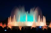 在巴塞罗那的多彩蒙喷泉 — 图库照片