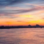Neva river summer dawn — Stock Photo #75032735
