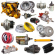 Set of motor and automotive parts — Stock Photo #75033427