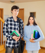 Portrait of serious students   — Stock Photo