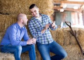 Two relaxed farm workers — Stock Photo