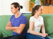 Young couple having quarrel — Stock Photo