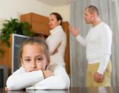 Parents quarrel at home  — Stock Photo