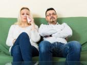 Sad man and unhappy woman — Stockfoto