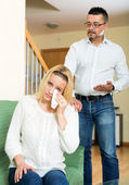 Casual family having quarrel — Stock Photo