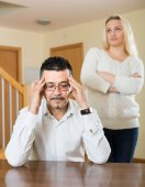 Family quarrel at home — Stock Photo