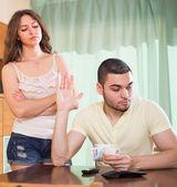 Couple having money problems — Stock Photo