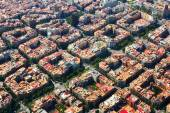 Aerial view  of    Eixample  district. — Stock Photo