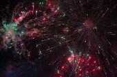 Fireworks at night sky — Stock Photo