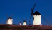 Two windmills at field — Fotografia Stock