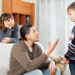 Parents berating their teenage child — Stock Photo #77487732