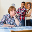 Conflict at young family with mother — Stock Photo #77489656