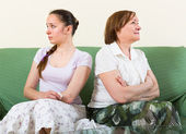 Sad daughter against  mother — Stock Photo